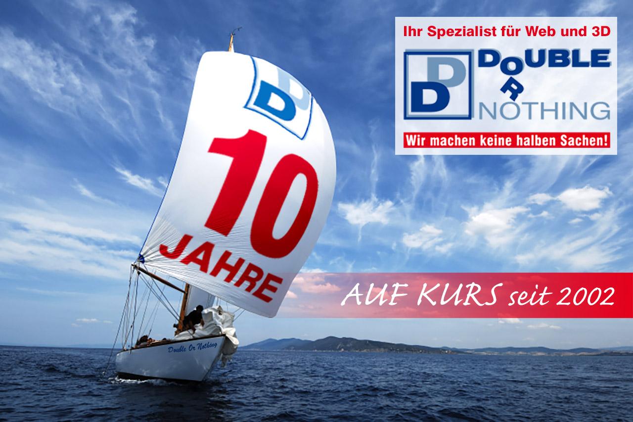 2012: Firmenjubiläum 10 Jahre double or nothing Internetagentur