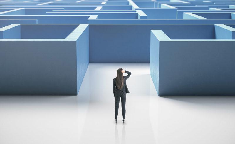 Barrierefreie Internetauftritte: Worum geht es konkret? - Vorher: Labyrinth und Barrieren