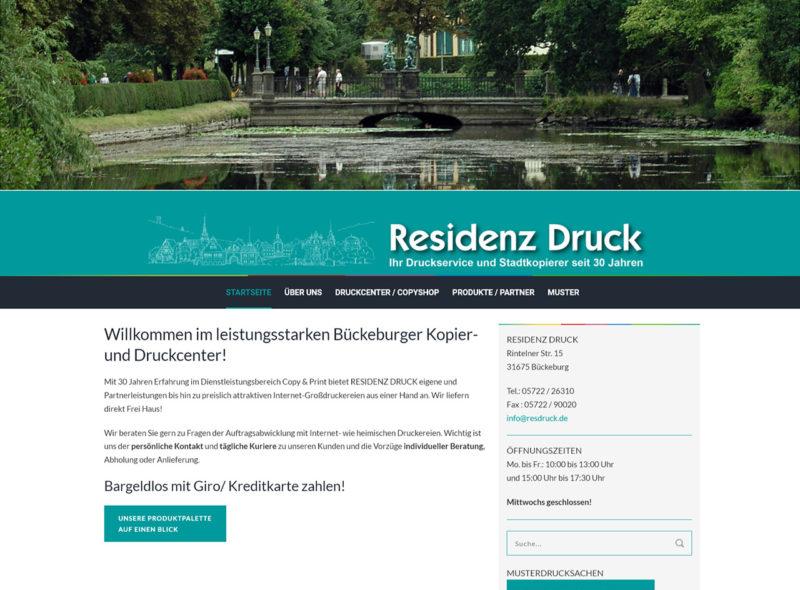 Residenz Druck - Ihr Druckservice und Stadtkopierer in Bückeburg