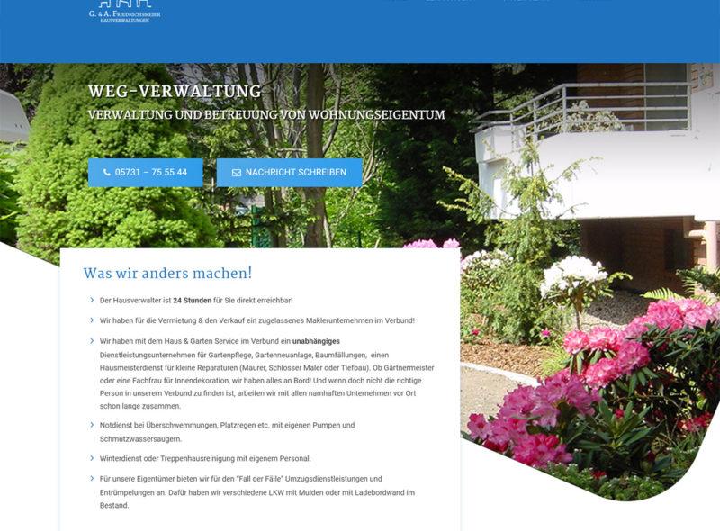 WEG-Verwaltung - G. & A. Friedrichsmeier Hausverwaltungen, Bad Oeynhausen